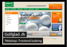 Hjemmeside til Golfglad.dk