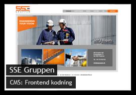Eksempel på webdesign