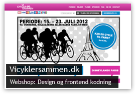 Hjemmeside til vicyklersammen.dk